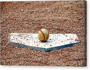 The Ball Of Field Of Dreams Canvas Print by Susanne Van Hulst