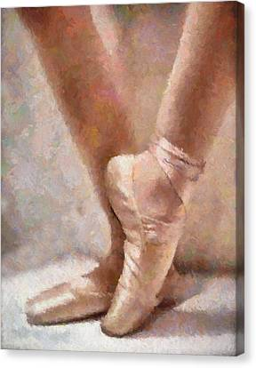 The Ballerina's Shoes Canvas Print by Georgiana Romanovna