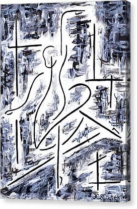 The Ballet Rehearsal Canvas Print by Kamil Swiatek