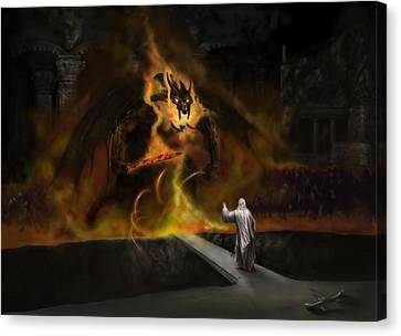 The Balrog Canvas Print by Matt Kedzierski