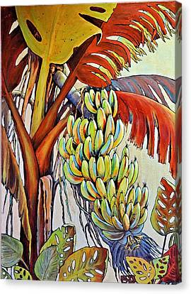 The Banana Tree Canvas Print by JAXINE Cummins