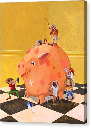 The Bank Robbery Canvas Print by Leonard Filgate