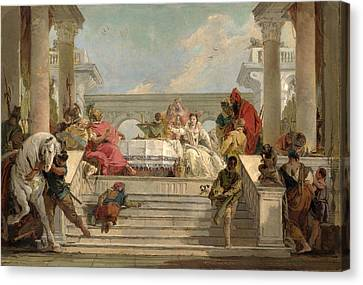 The Banquet Of Cleopatra Canvas Print by Giovanni Battista Tiepolo
