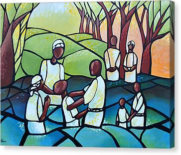 The Baptism Canvas Print by AC Williams