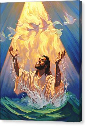 The Baptism Of Jesus Canvas Print by Jeff Haynie