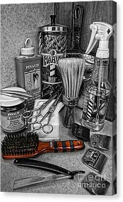 The Barber's Brush Canvas Print by Lee Dos Santos