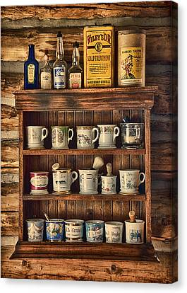 The Barber's Shelf Canvas Print by Priscilla Burgers