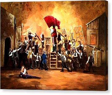 The Barricade Canvas Print by Bill Marsoun