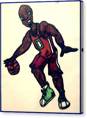 The Basket Ball Player Canvas Print by Daniel Price