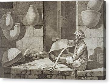 The Basket Maker, From Volume II Arts Canvas Print by Nicolas Jacques Conte