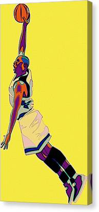 The Basketball Player Canvas Print by Florian Rodarte