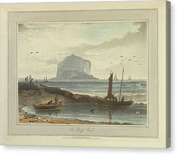 The Bass Rock Canvas Print by British Library