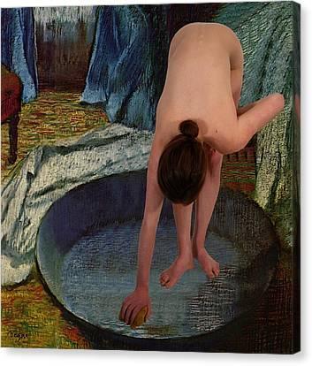 The Bather Canvas Print by Don McCunn