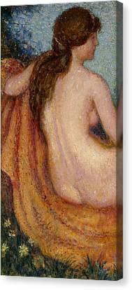 The Bather Canvas Print by Georges Lemmen