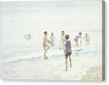 The Bathers Canvas Print by Edward van Goethem