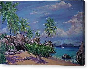 The Baths At Virgin Gorda   15x23 Canvas Print by John Clark