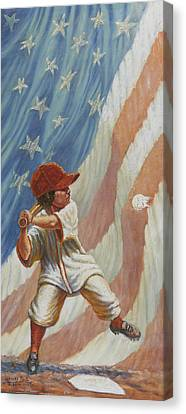 The Batter Canvas Print by Gregory Perillo