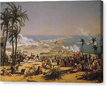 The Battle Of Aboukir, 25th July 1799 Oil On Canvas Canvas Print by Louis Lejeune
