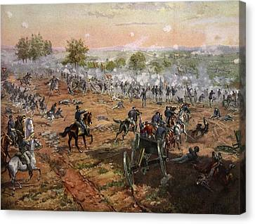 The Battle Of Gettysburg, July 1st-3rd Canvas Print by Henry Alexander Ogden