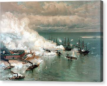 The Battle Of Mobile Bay Canvas Print by War Is Hell Store