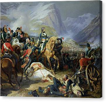 The Battle Of Rivoli, 1844 Oil On Canvas See Also 176686 Canvas Print by Felix Philippoteaux