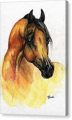 The Bay Arabian Horse 14 Canvas Print by Angel  Tarantella