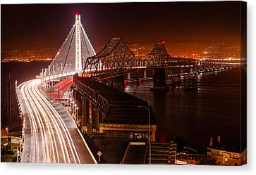 The Bay Bridges Canvas Print by Alexis Birkill