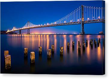 The Bay Lights Canvas Print by Alexis Birkill