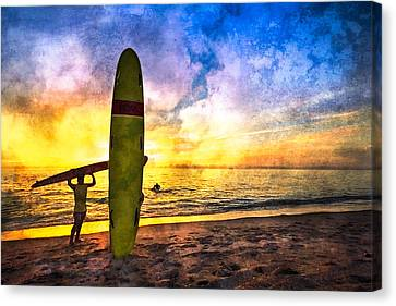 The Beach Boys Canvas Print by Debra and Dave Vanderlaan