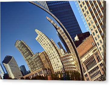 The Bean - 1 - Cloud Gate - Chicago Canvas Print by Nikolyn McDonald