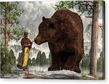 The Bear Woman Canvas Print by Daniel Eskridge