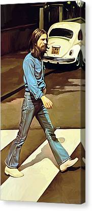 The Beatles Abbey Road Artwork Part 1 Of 4 Canvas Print by Sheraz A