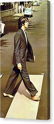 The Beatles Abbey Road Artwork Part 2 Of 4 Canvas Print by Sheraz A