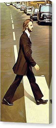 The Beatles Abbey Road Artwork Part 3 Of 4 Canvas Print by Sheraz A