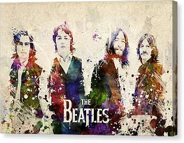 The Beatles Canvas Print by Aged Pixel