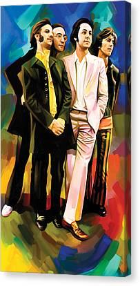 The Beatles Artwork 3 Canvas Print by Sheraz A