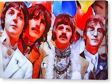 The Beatles Canvas Print by Dan Sproul