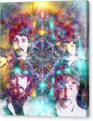 The Beatles Canvas Print by D Walton