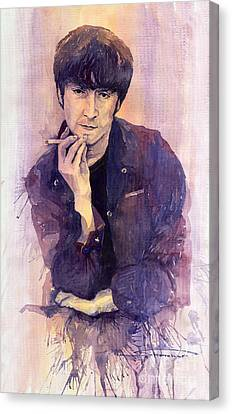 The Beatles John Lennon Canvas Print by Yuriy  Shevchuk
