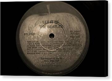 The Beatles Let It Be Canvas Print by Dan Sproul