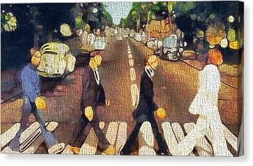 The Beatles On Canvas Canvas Print by Dan Sproul