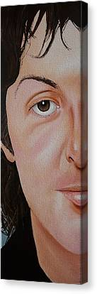 The Beatles Paul Mccartney Canvas Print by Vic Ritchey