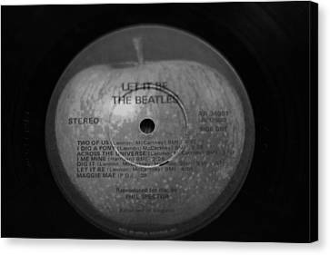 The Beatles Vinyl Let It Be Canvas Print by Dan Sproul
