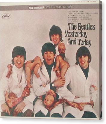 The Beatles Yesterday And Today Butcher Album Cover Canvas Print by Donna Wilson