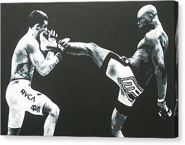 The Beautiful Kick Canvas Print by Geo Thomson