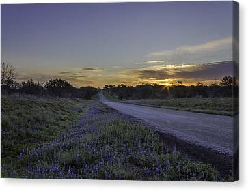 The Beautiful Road At Sunrise Canvas Print by Jeffrey W Spencer