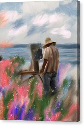 The Beauty Of A Painter Canvas Print by Angela A Stanton