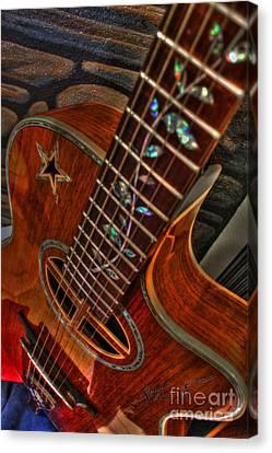 The Beauty Of A Six String Digital Guitar Art By Steven Langston Canvas Print by Steven Lebron Langston