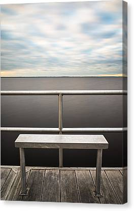 The Bench Canvas Print by Clay Townsend