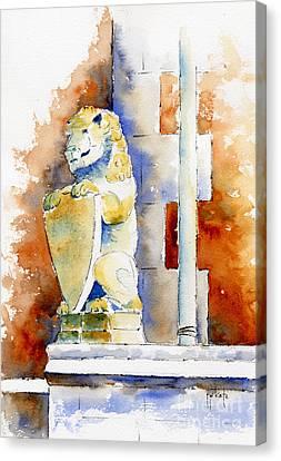 The Bessborough Lion Canvas Print by Pat Katz